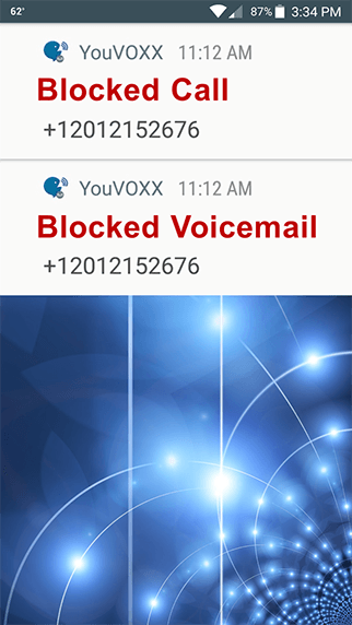 Also Blocks Voicemails