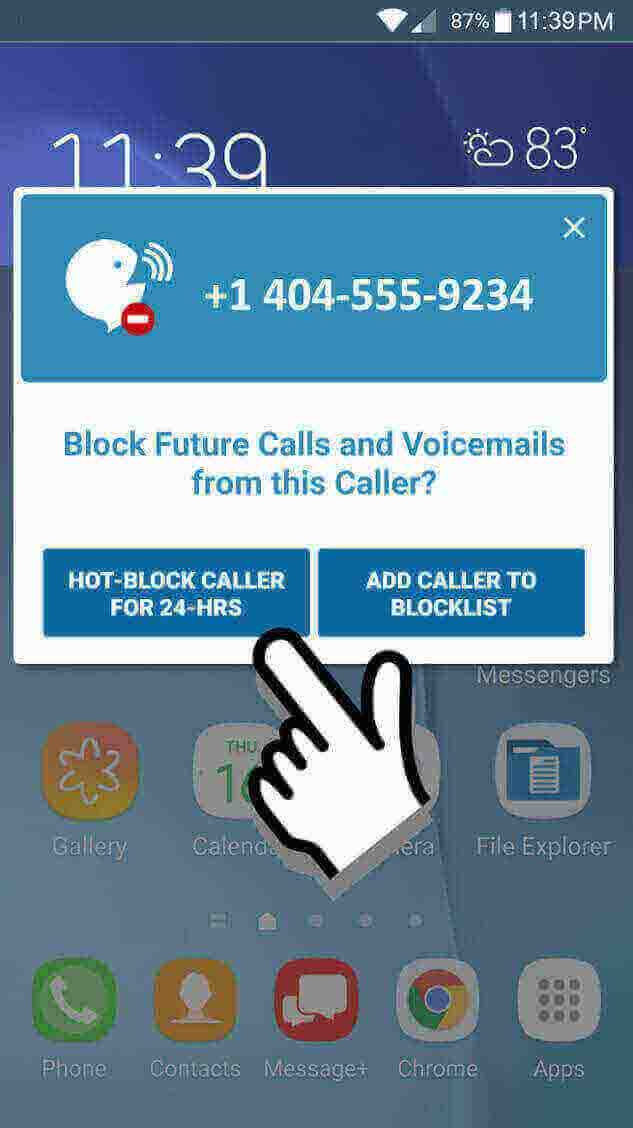 VOICEMAIL BLOCKER